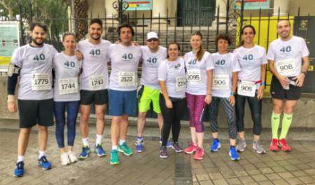 Equipo HLL carrera popular solidaria